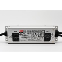 ELG-100-24B-3Y, Mean Well LED switching power supplies, 100W, IP67, dimmable, with protective earth PE, ELG-100 series