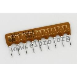 4609X-101-332LF, Bourns resistor networks, 9 pins/8 resistors, 4600X series