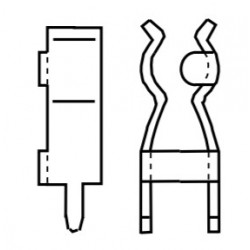 1056B.68, Vogt, fuse holder halves, SMD and THT