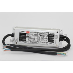 ELG-75-36DA-3Y, Mean Well LED power supplies, 75W, IP67, constant voltage, dimmable, DALI interface, ELG-75 series