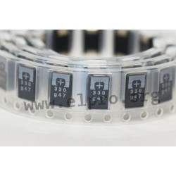 10TPE47MAZB, Panasonic polymer tantalum capacitors, SMD, Poscap, TPE series