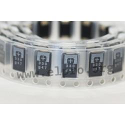 10TPE330M, Panasonic polymer tantalum capacitors, SMD, Poscap, TPE series