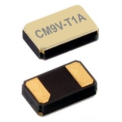 CM9V-T1A 32.768-9-20-TAQC, Micro Crystal tuning fork crystals, SMD ceramic housing, 1,6x1x0,5mm, CM9V-T1A series