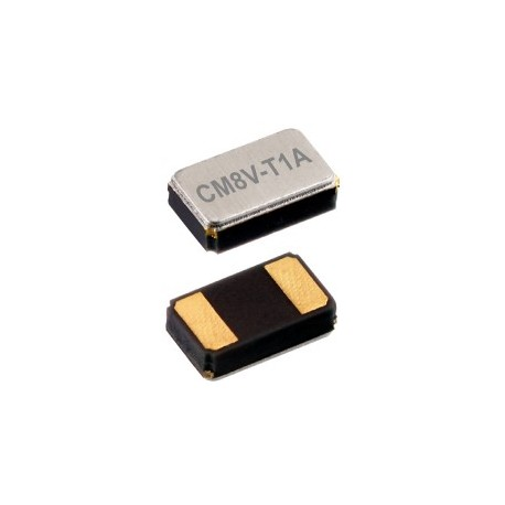 CM8V-T1A 32.768-12.5-20-TAQC, Micro Crystal tuning fork crystals, SMD ceramic housing, 2x1,2x0,6mm, CM8V-T1A series