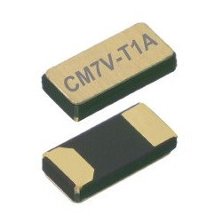 CM7V-T1A 32.768-7-20-TCQA, Micro Crystal tuning fork crystals, SMD ceramic housing, 1,5x3,2x0,65mm, CM7V-T1A series