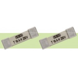 160020.16GT, SIBA, SMD fuses, 5,8x20mm, time lag, 250V, 160020 series