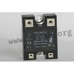 WGA5-6D10R, Comus solid state relays, 10 to 40A, 280V, triac output, WGA5 series
