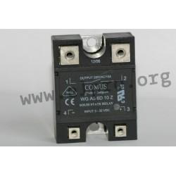 WGA5-6D10Z-LD, Comus solid state relays, 10 to 40A, 280V, triac output, WGA5 series