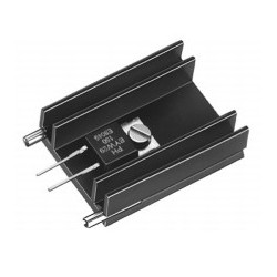 SK 145 25 STS 220, Fischer extruded heatsinks, with soldering pins for PCB mounting, SK129, SK145 and SK409 series