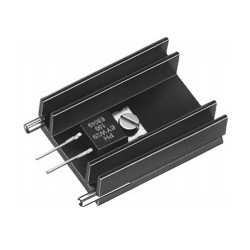 SK 145 37,5 STS 220, Fischer extruded heatsinks, with soldering pins for PCB mounting, SK129, SK145 and SK409 series