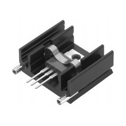 SK 145 50 STC, Fischer extruded heatsinks, with soldering pins for PCB mounting, SK129, SK145 and SK409 series