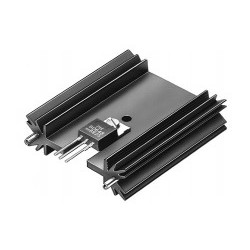 SK 409 25,4 STS, Fischer extruded heatsinks, with soldering pins for PCB mounting, SK129, SK145 and SK409 series