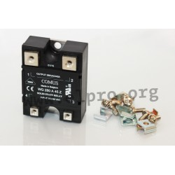 WG280-D25R, Comus solid state relays, 25-125A, 280V, thyristor output, WG280 series