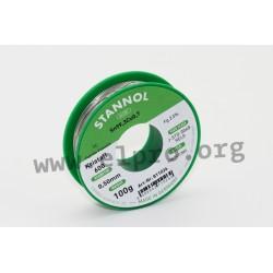 811026, Stannol, 2,5% halogen-free flux, Fairtin Flowtin TC, Kristall 600 series