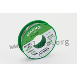 811008, Stannol, 2,5% halogen-free flux, Fairtin Flowtin TC, Kristall 600 series