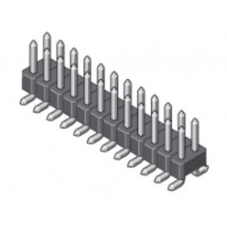 , MPE Garry pin headers, SMD, pitch 2,54mm, gold-plated, 090 series