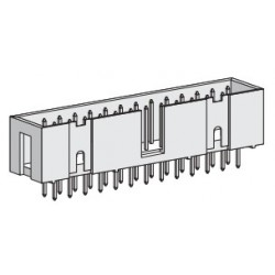 SPBH10S-300Y, Speed box header, straight, pitch 2,54mm, SPBH series