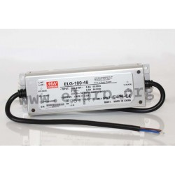 ELG-100-42, Mean Well LED switching power supplies, 100W, IP67, ELG-100 series
