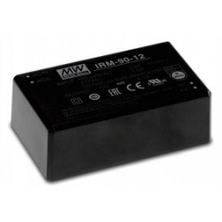 """IRM-90-12, Mean Well AC/DC converters, 90W, PCB, 3,43""""x2,05"""", IRM-90 series"""