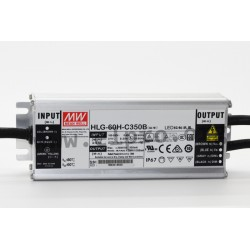HLG-60H-C700B, Mean Well LED switching power supplies, 70W, IP67, constant current, dimmable, HLG-60H-C series