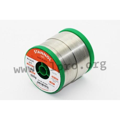 813017, Stannol, 2,5% halogen-activated flux, Fairtin Flowtin TC, Kristall 611 series