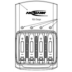 1001-0013, Ansmann battery chargers, for NiMH, Li-Ion and NiZn batteries