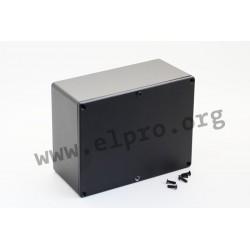 1550LBK, Hammond diecast enclosures, aluminium, 1550 series