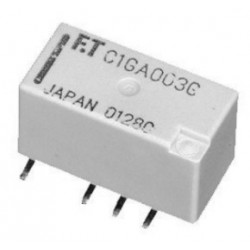 FTR-C1CB005G, Fujitsu PCB relays, 2A, 2 changeover contacts, FTR-C1 series