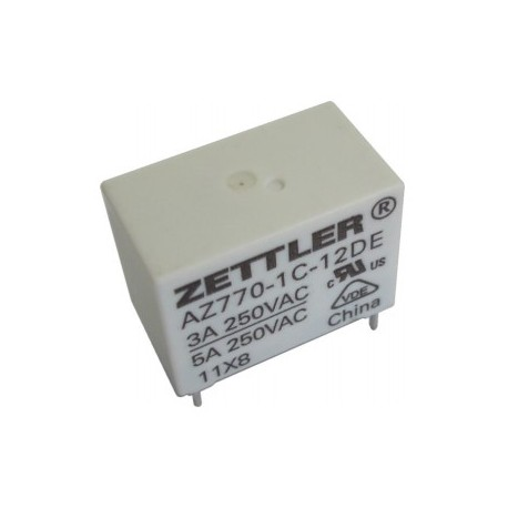 AZ770-1C-12DE, Zettler PCB relays, 5A, 1 normally open contact, AZ770 series