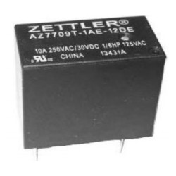AZ7709-1AE-12DSEF, Zettler PCB relays, 5A, 1 normally open contact, AZ7709 series