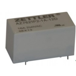 AZ7621P2-1A-12DE, Zettler PC relays, 16A, 1 changeover or 1 normally open contact, AZ7621P series