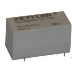 AZ7621P2-1A-12DE, Zettler PC relays, 16A, 1 changeover or 1 normally open contact, AZ7621P series