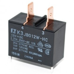 FTR-K3AB012W, Fujitsu PCB relays, 25A, 1 normally open contact, FTR-K3 series