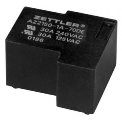AZ2150-1A-24DE, Zettler PCB relays, 40A, 1 changeover or 1 normally open contact, AZ2150 series