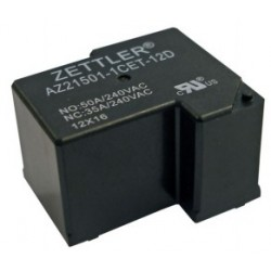 AZ21501-1AET-12DF, Zettler PCB relays, 50A, 1 changeover or 1 normally open contact, AZ21501 series