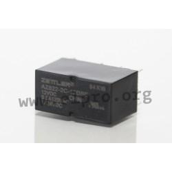 AZ822-2C-6DSE, Zettler PCB relays, 2A, 2 changeover contacts, AZ822 series