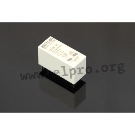 AZ742-2A-24DE, Zettler PCB relays, 8 to 10A, 2 changeover or 2 normally open contacts, AZ742 series