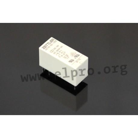 AZ742-2CG-12DE, Zettler PCB relays, 8 to 10A, 2 changeover or 2 normally open contacts, AZ742 series