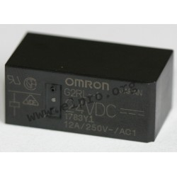 G2RL25DC, Omron PCB relays, 8 to 16A, 1 or 2 changeover contacts, G2RL series
