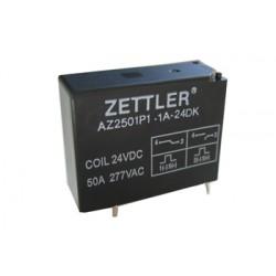 AZ2501P2-1C-24DE, Zettler PCB relays, 50A, 1 changeover oder 1 normally open contact, AZ2501P series