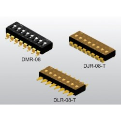 DMR-08-T-V-T/R, Diptronics DIL switches, SMD, pitch 2,54mm, DM series