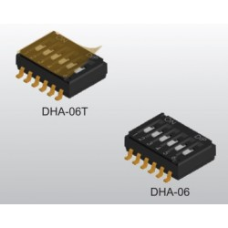 DHA-06TQR, Diptronics DIL switches, SMD, pitch 1,27mm, DHA series
