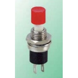 R13-24A-05-R, Shin Chin push button switch, 1 normally open contact, for Ø7,2mm cutout, R13-24A series