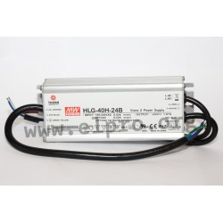 HLG-40H-54B, Mean Well LED switching power supplies, 40W, IP67, dimmable, HLG-40H series