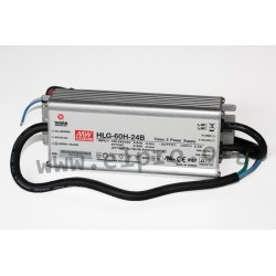 HLG-60H-30B, Mean Well LED drivers, 60W, IP67, dimmable, HLG-60H series