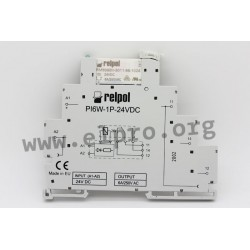 PIR6W-1P-24VDC, Relpol switching relays, 6A, 1 changeover contact, PIR6W series