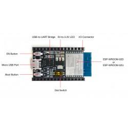 ESP8266-DEVKITC-02D-F, Espressif development kits, for ESP WiFi modules, ESP series