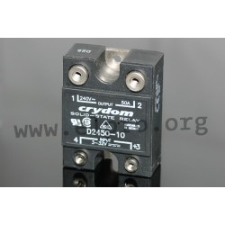 D2450K, Crydom solid state relays, 10 to 90A, 280V, thyristor output, CSD, CSW and D24 series