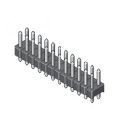 087-2-072-0-T-XS0, MPE Garry pin headers, double-row, straight, pitch 2,54mm, 087 series