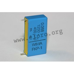 FKP1Y021006F00KSSD, Wima FKP film capacitors, pitch 15 to 37,5mm, FKP 1 series